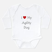 I Love My Agility Dog Long Sleeve Infant Bodysuit