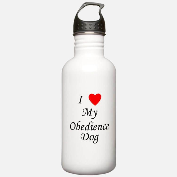 I Love My Obedience Dog Water Bottle