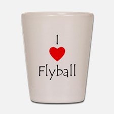 I Love Flyball Shot Glass