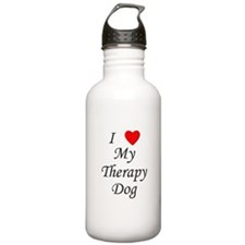 I Love My Therapy Dog Water Bottle