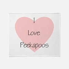 I Love Peekapoos (2) Throw Blanket