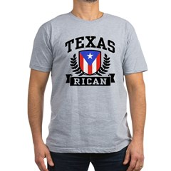 Texas Rican Men's Fitted T-Shirt (dark)