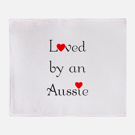 Loved by an Aussie Throw Blanket