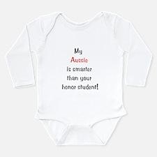My Aussie is smarter... Long Sleeve Infant Bodysui