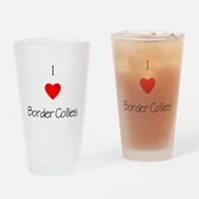 I Love Border Collies Drinking Glass