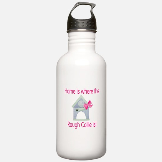 Home is where the Rough Colli Water Bottle