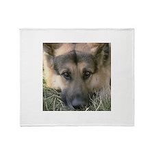 German Shepherd Dog Face (pho Throw Blanket