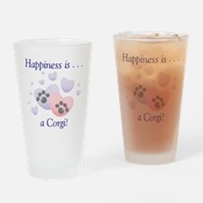 Happiness is...a Corgi Drinking Glass