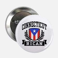 "Connecticut Rican 2.25"" Button"