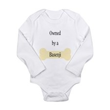 Owned by a Basenji Long Sleeve Infant Bodysuit