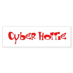 Cyber Hottie Bumper Bumper Sticker