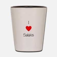 I Love Salukis Shot Glass