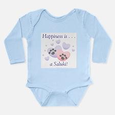 Happiness is...a Saluki Long Sleeve Infant Bodysui