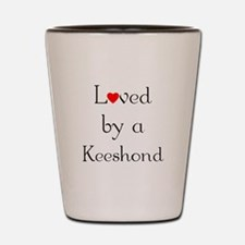 Loved by a Keeshond Shot Glass