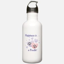 Happiness is...a Poodle Water Bottle