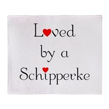 Loved by a Schipperke Throw Blanket