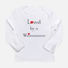 Loved by a Weimaraner Long Sleeve Infant T-Shirt