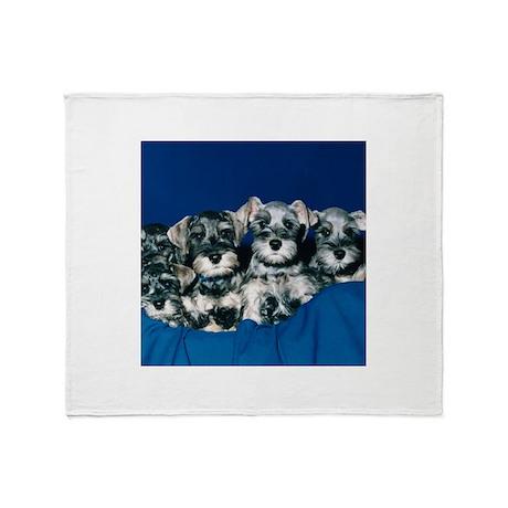 Schnauzer Puppies Throw Blanket