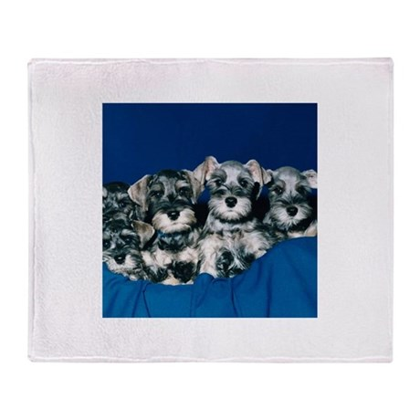 Schnauzer Puppies Throw Blanket