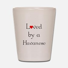 Loved by a Havanese Shot Glass