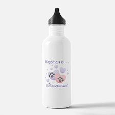 Happiness is...a Pomeranian Water Bottle