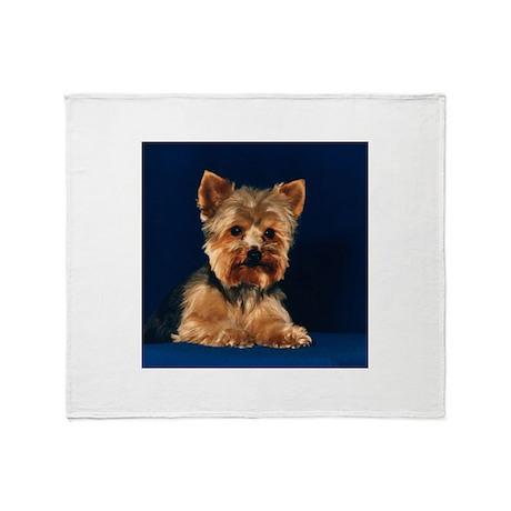 Yorkshire Terrier Puppy Throw Blanket