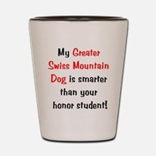 My Greater Swiss Mt Dog is sm Shot Glass