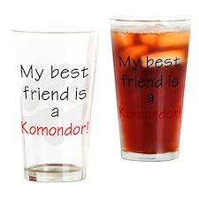 My Best Friend is a Komondor Drinking Glass