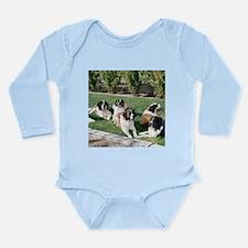 Lounging St. Bernards Long Sleeve Infant Bodysuit