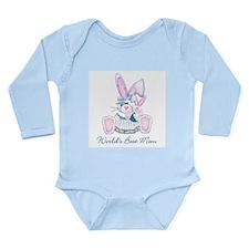 World's Best Mom (bunny) Long Sleeve Infant Bodysu