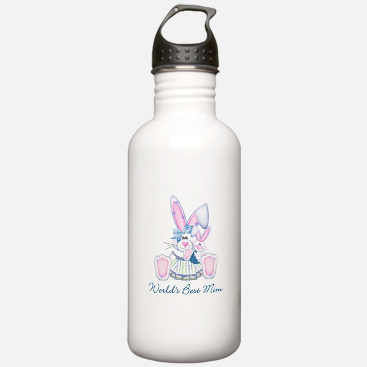 World's Best Mom (bunny) Water Bottle