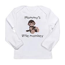 Mommy's little monkey (brown) Long Sleeve Infant T