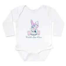 World's Best Mum (bunny) Long Sleeve Infant Bodysu