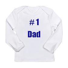 Cute 1 dad Long Sleeve Infant T-Shirt