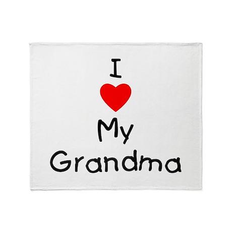 I love my grandma Throw Blanket