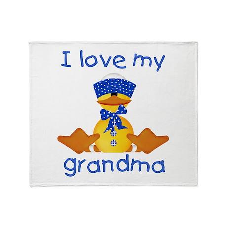 I love my grandma (boy ducky) Throw Blanket