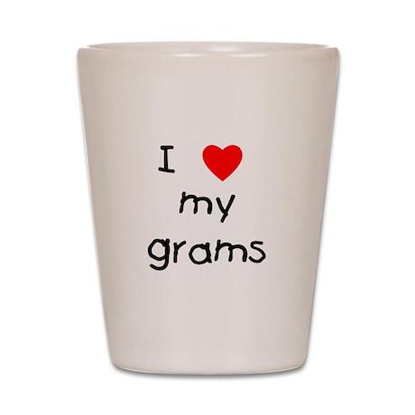 I love my grams Shot Glass