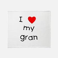 I love my gran Throw Blanket