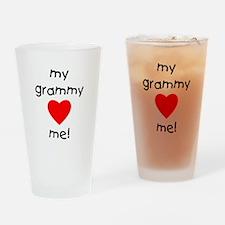 My grammy loves me Drinking Glass