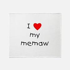 I love my memaw Throw Blanket