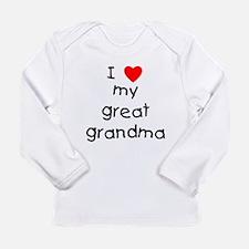 I love my great grandma Long Sleeve Infant T-Shirt