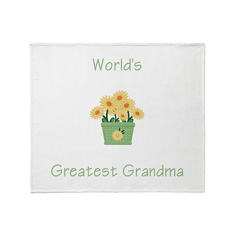 World's Greatest Grandma (yel Throw Blanket