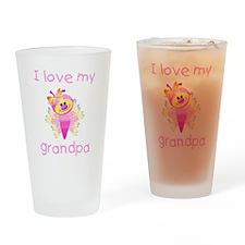 I love my grandpa (girl butte Drinking Glass