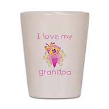 I love my grandpa (girl butte Shot Glass