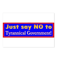 No to Gov Postcards (Package of 8)