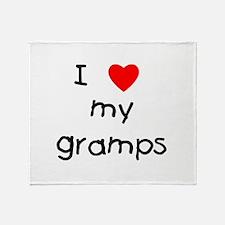 I love my gramps Throw Blanket