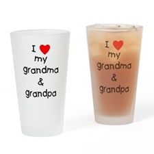 I love my grandma & grandpa Drinking Glass