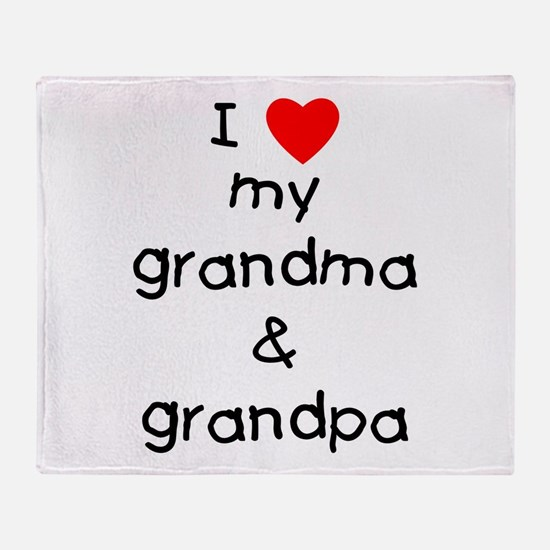 I love my grandma & grandpa Throw Blanket