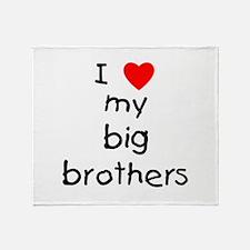 I love big brothers Throw Blanket
