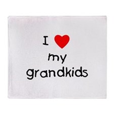 I love my grandkids Throw Blanket
